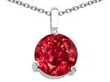 Tommaso Design™ Round Created Ruby Pendant style: 308417