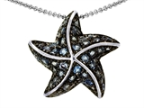 Original Star K™ Starfish Pendant With Round Simulated Aquamarine style: 308433