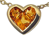 Tommaso Design™ Invisible Set Genuine Citrine Pendant style: 308442