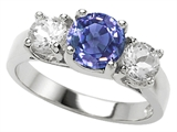 Original Star K™ Round Simulated Tanzanite Engagement Ring