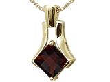 Tommaso Design™ Square Cut Genuine Garnet Pendant style: 308457