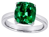 Original Star K™ 8mm Cushion Cut Solitaire Engagement Ring with Simulated Emerald