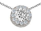Original Star K™ Round 6mm Genuine White Topaz Pendant style: 308590