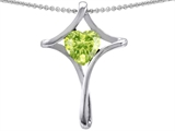 Original Star K™ Large Christian Cross Of Love Pendant With Heart Simulated Peridot style: 308603