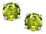 Original Star K™ Round Genuine Peridot Earring Studs