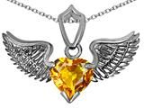 Original Star K™ Wing of Love Pendant with 8mm Heart Shape Genuine Citrine