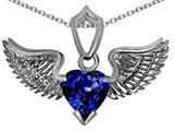 Original Star K™ Wing of Love Pendant with 8mm Heart Shape Created Sapphire