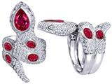 Original Star K™ Good Luck Snake Ring with Created Ruby Stones