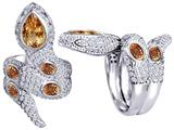 Original Star K™ Good Luck Snake Ring with Simulated Imperial Yellow Topaz Stones style: 309609