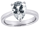 Original Star K™ Large 11x8 Pear Shape Solitaire Engagement Ring with Genuine White Topaz