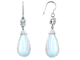 Original Star K™ Briolette Drop Cut Simulated Opal Hanging Hook Earrings style: 310957