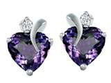 Original Star K™ 8mm Heart Shape Simulated Alexandrite Heart Earrings style: 311077