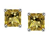 Star K™ Square 7mm Smoky Quartz Earrings style: 311085