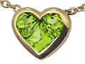 Tommaso Design™ Genuine Invisible Set Peridot Pendant