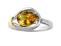 Genuine Pear Shape Citrine Ring