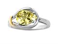 Genuine Pear Shape Lemon Quartz Ring