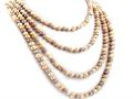 92 Inch Extra Long Genuine Multicolor Pearl Necklace