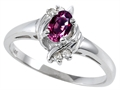 Tommaso Design Genuine Rhodolite and Diamond Ring