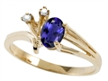 Tommaso Design Genuine Iolite and Diamond Ring