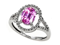 Tommaso Design Simulated Pink Topaz And Diamond Ring