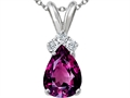 Tommaso Design™ Genuine Rhodolite and Diamond Pendant