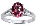 Tommaso Design™ Genuine Rhodolite and Diamond Ring