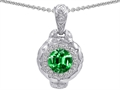 Original Star K 8mm Simulated Emerald Bali Style Pendant