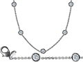 Original Star K™ 16 Inch Gems By The Yard Necklace With Genuine Cubic Zirconia