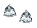 Tommaso Design™ Trillion 6mm GENUINE Aquamarine Earring Studs