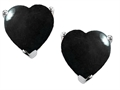 Original Star K™ 7mm Heart Shape Black Onyx Earrings Studs