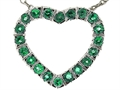 Tommaso Design™ Heart Shaped Pendant with Genuine Emeralds