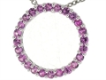 Tommaso Design 19mm. Circle Of Love Pendant made with Genuine Pink Sapphire
