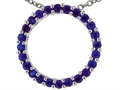 Tommaso Design™ 19mm. Circle Of Love Pendant made with Genuine Quality Sapphire