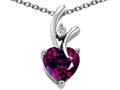 Original Star K™ Genuine Heart Shaped 8mm Rhodolite Pendant