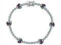 Original Star K™ Classic Heart Shape 7mm Rainbow Mystic Topaz Tennis Bracelet