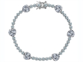 Original Star K Classic Heart Shape White Topaz Tennis Bracelet In