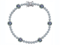 Original Star K™ Classic Round 6mm Genuine Mystic Topaz Tennis Bracelet
