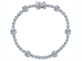 Original Star K Classic Round Genuine White Topaz Tennis Bracelet In