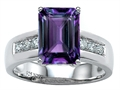 Original Star K™ Classic Octagon Emerald Cut 9x7 Engagement Ring With Simulated Alexandrite