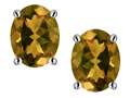 Original Star K™ Oval 8x6mm Genuine Smoky Quartz Earrings Studs