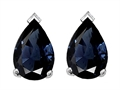 Tommaso Design 8x6mm Pear Shape Genuine Sapphire Earrings