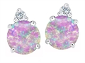 Original Star K™ Round 7mm Pink Simulated Opal Earrings Studs