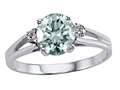 Tommaso Design™ Round 7mm Genuine Aquamarine and Diamond Ring