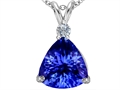 Original Star K™ Large 12mm Trillion Cut Simulated Tanzanite Pendant