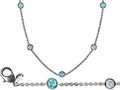 Original Star K™ 72 Inch Gems By The Yard Necklace With Round Simulated Aquamarine