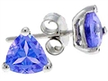 Tommaso Design™ 4.5mm Trillion Genuine Tanzanite Earrings