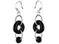 Original Star K™ Simulated Onyx Oval Dangling Earring Drops