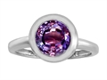 Original Star K™ 8mm Round Solitaire Engagement Ring With Simulated Alexandrite