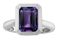 Original Star K™ 9x7mm Emerald Cut Octagon Solitaire Ring With Simulated Alexandrite