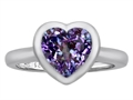 Original Star K™ 8mm Heart Shape Solitaire Engagement Ring With Simulated Alexandrite